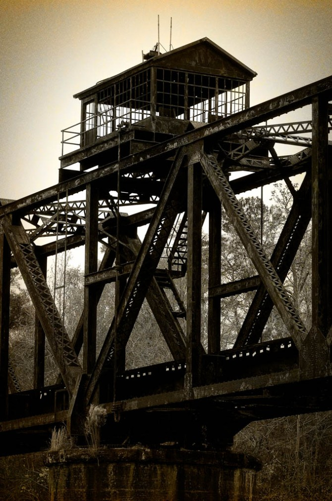 Rusty Railroad Bridge over Southern Georgia