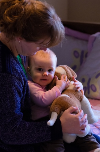 Baby gets a moment with Mom after feeling sick...