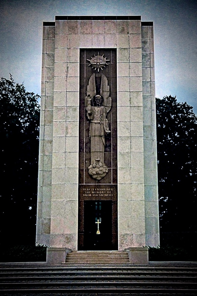 The Chapel at Luxemburg American Cemetary