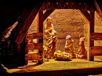 Away in a manger from a child's eye...