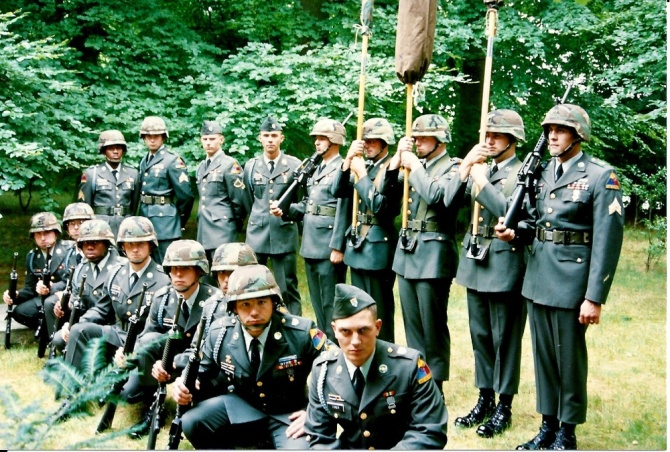 Color Guard of Charlie Rock!  C/4-12 Infantry.  Baumholder, Germany 1994 deployed to....