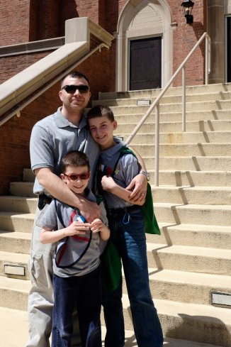 Ok enjoy it while you can...A proud Dad with his boys.